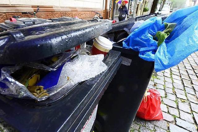 Wie Freiburger sich über fremden Müll in ihren Tonnen ärgern