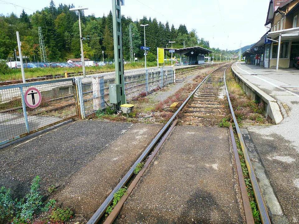 Barrierefrei ist der Bahnhof Neustadt nicht.    Foto: Peter Stellmach