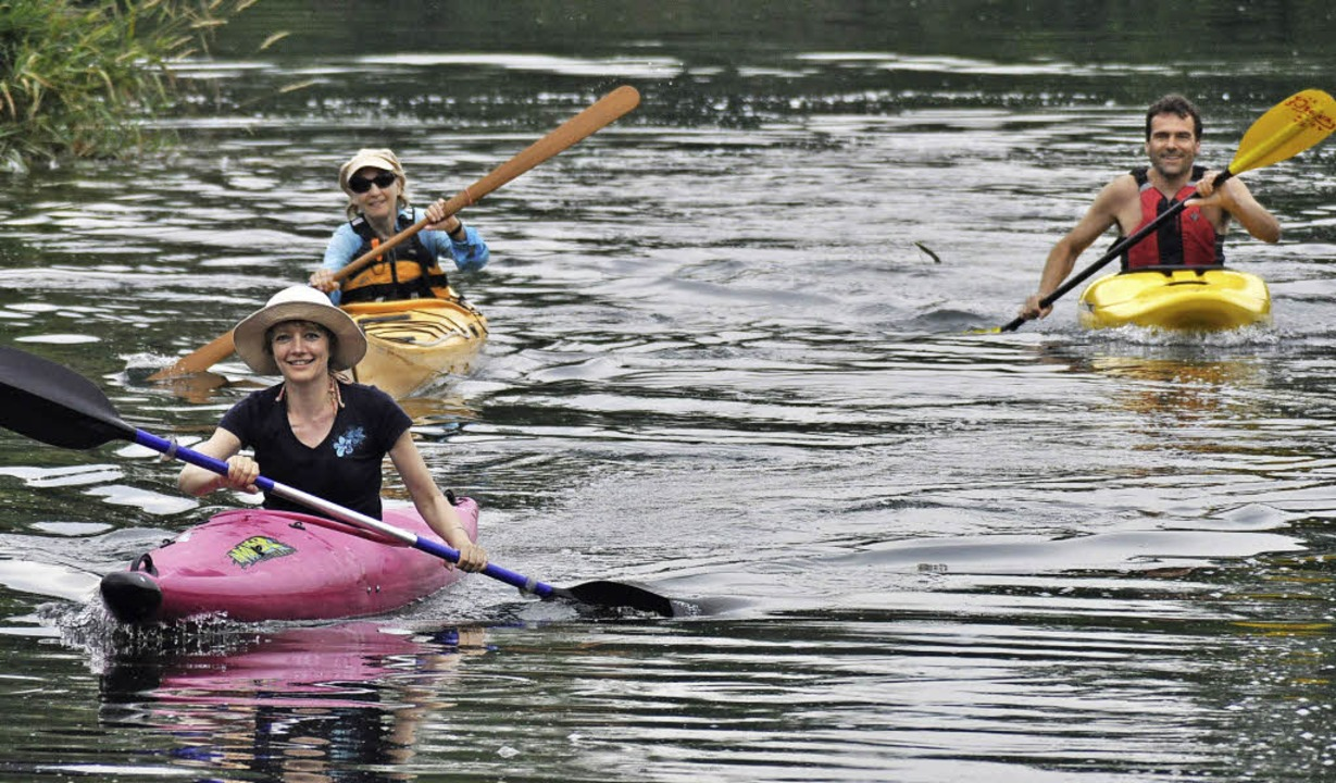 Die Faltbootfahrer sind gerne in Gruppen unterwegs.   | Foto: Julius Steckmeister