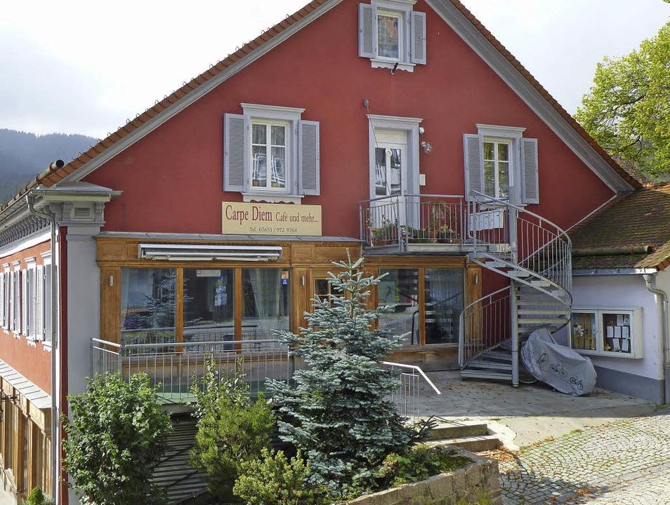 """Das """"Carpe Diem"""" im Roten Haus am Hirschenbuckel.     Foto: P. Stellmach"""