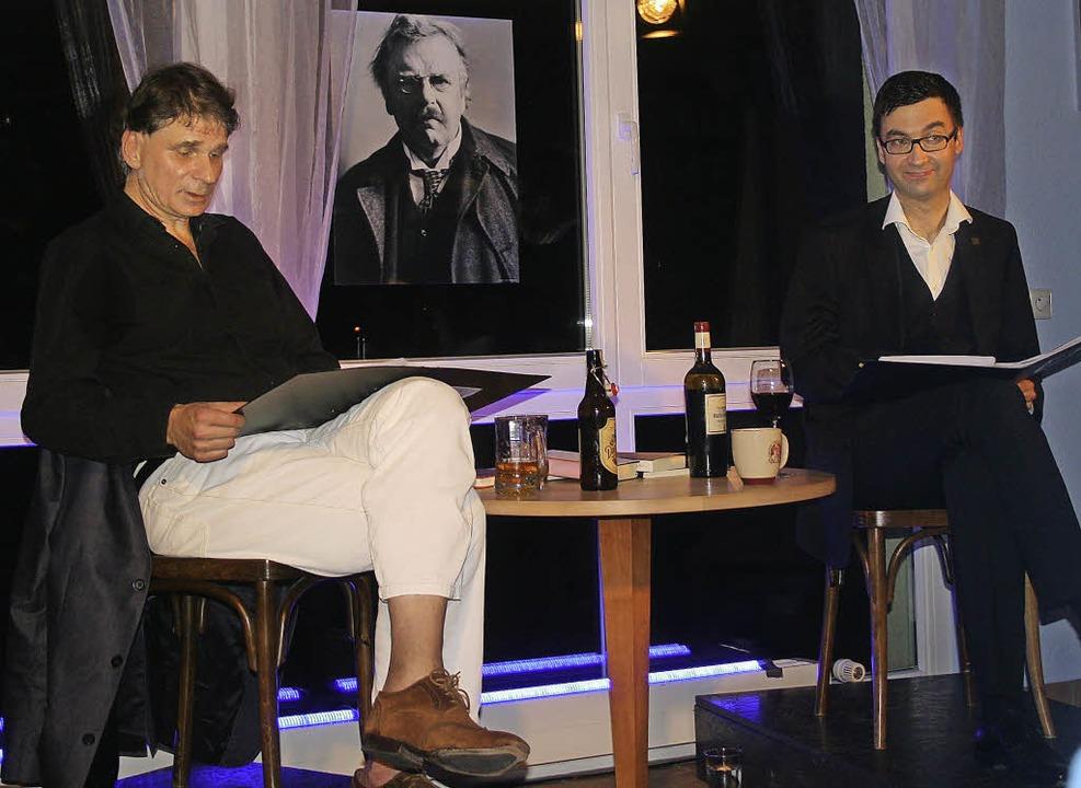 Uwe Postl und Alexander Kissler in Laufenburg  | Foto: aloisia zell