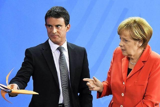 Frankreichs Premier Valls tritt in Berlin selbstbewusst auf