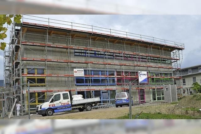 Der neue Kindergarten in der Rhein-Au wird noch in diesem Jahr fertiggestellt