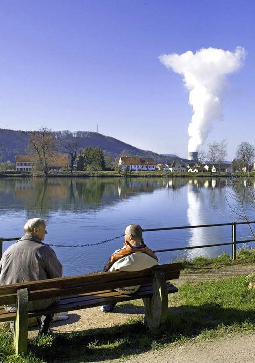 Verseuchtes Wasser aus dem AKW Leibstadt wäre nach 14 Stunden in Basel.   | Foto: dpa