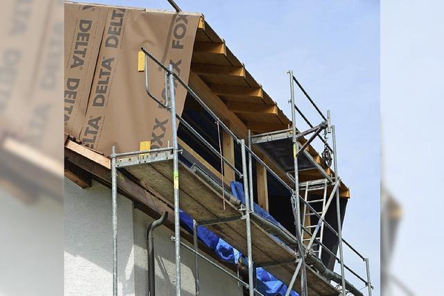 Ärger über zu groß geratene Dachgaube