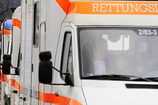 Lieferwagen fährt Krankenwagen Spiegel ab