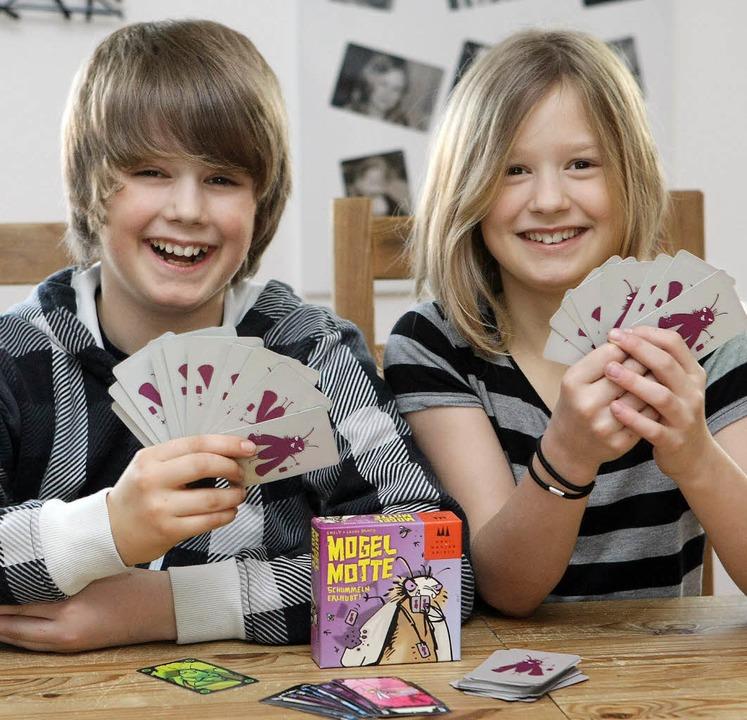 Emely und Lukas Brand, Deutschlands jüngste Spiele-Erfinder  | Foto: PR