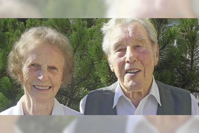 Seit 60 Jahren ein Ehepaar