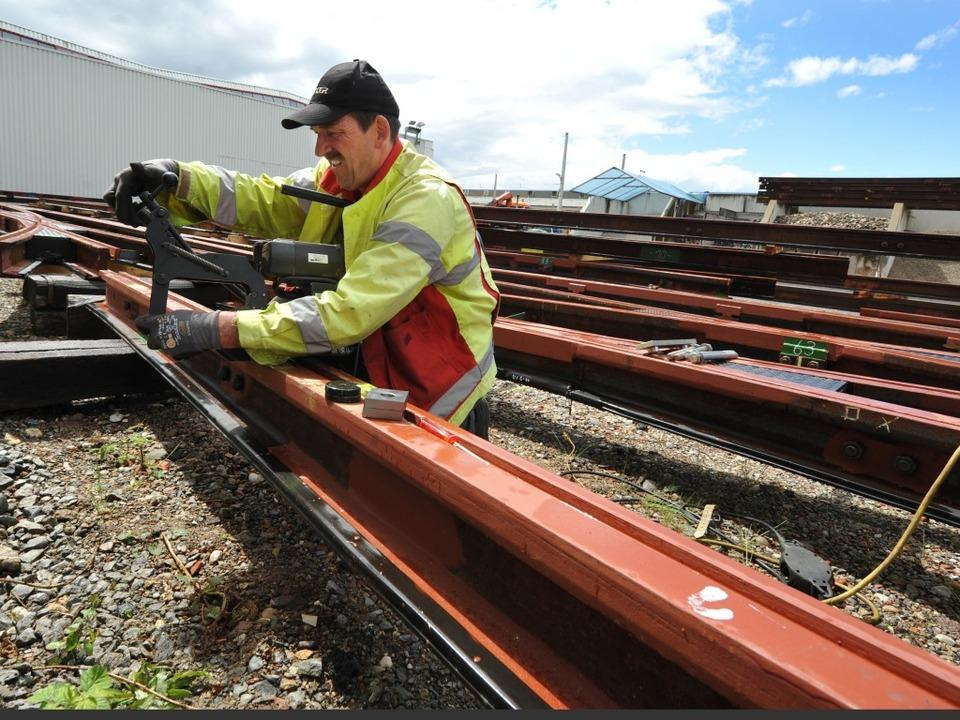 Die neuen Schienen können kommen.  | Foto: Rita Eggstein