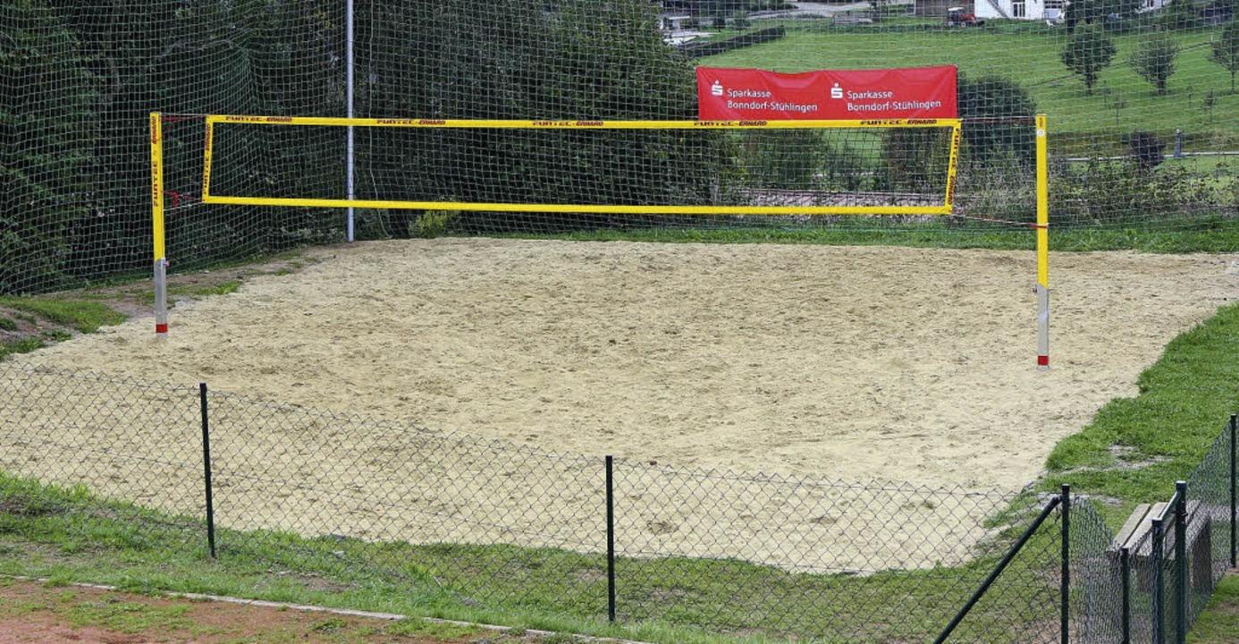 Begrenzungen für das Beachvolleyballfe...en sollen in Kürze angebracht werden.   | Foto: Dieckmann