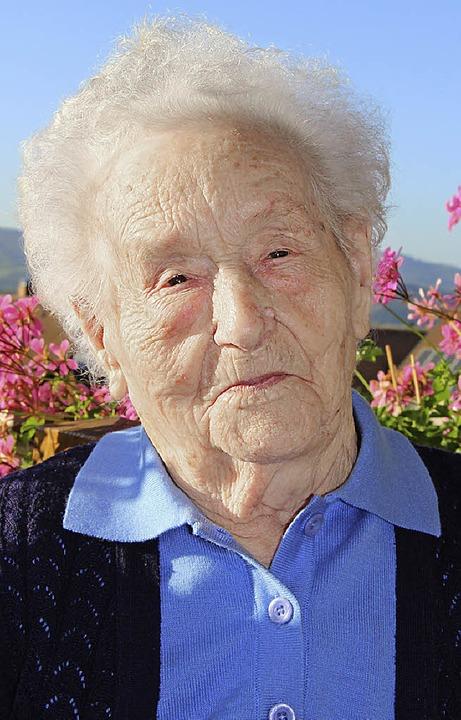 Katharina Herbstreit blickt auf 100 Lebensjahre zurück.  | Foto: j.maier