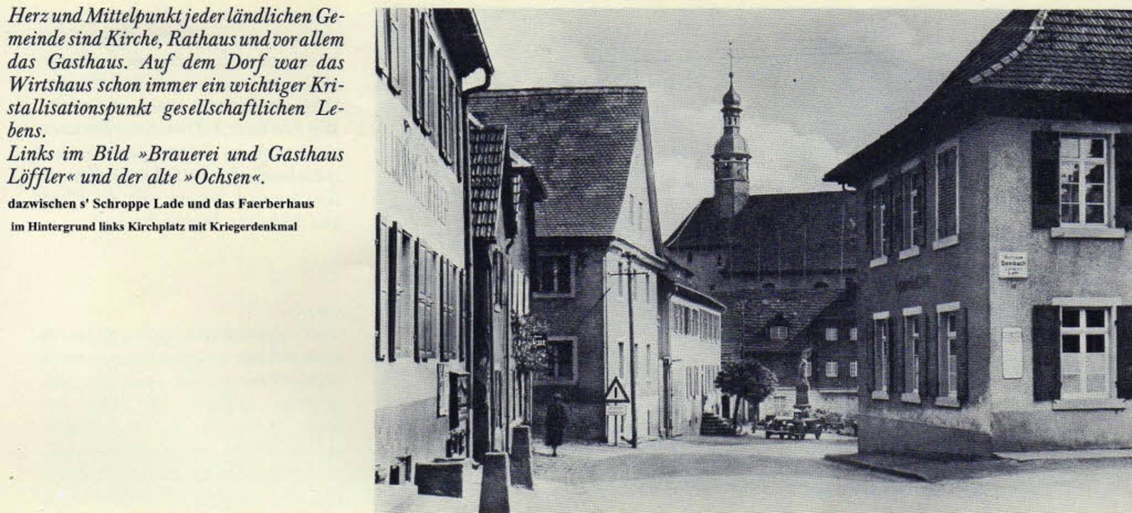 Die Seelbacher Dorfmitte 1960   | Foto: Privat