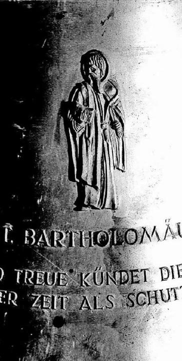 Sie erklingen am Freitag erstmals geme...angelische Dietrich-Bonhoeffer-Glocke.    Foto: Paul Eisenbeis
