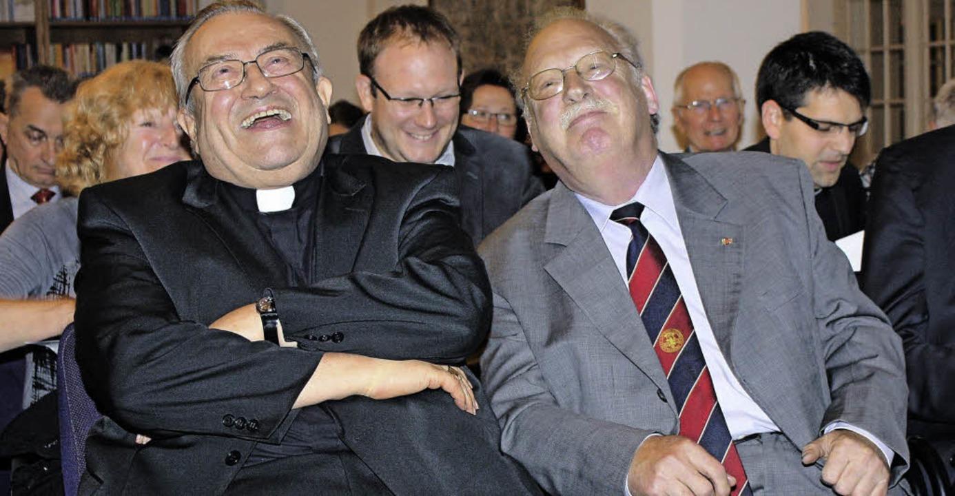 Humor bei der Verabschiedung im Herder...t alte Bekannte, seit über 40 Jahren.   | Foto: Yvonne Weis