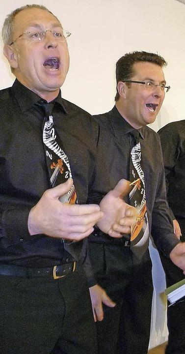 Nur Stimmen und witzig: die Liederlichen Feelharmoniker     Foto: Gempp