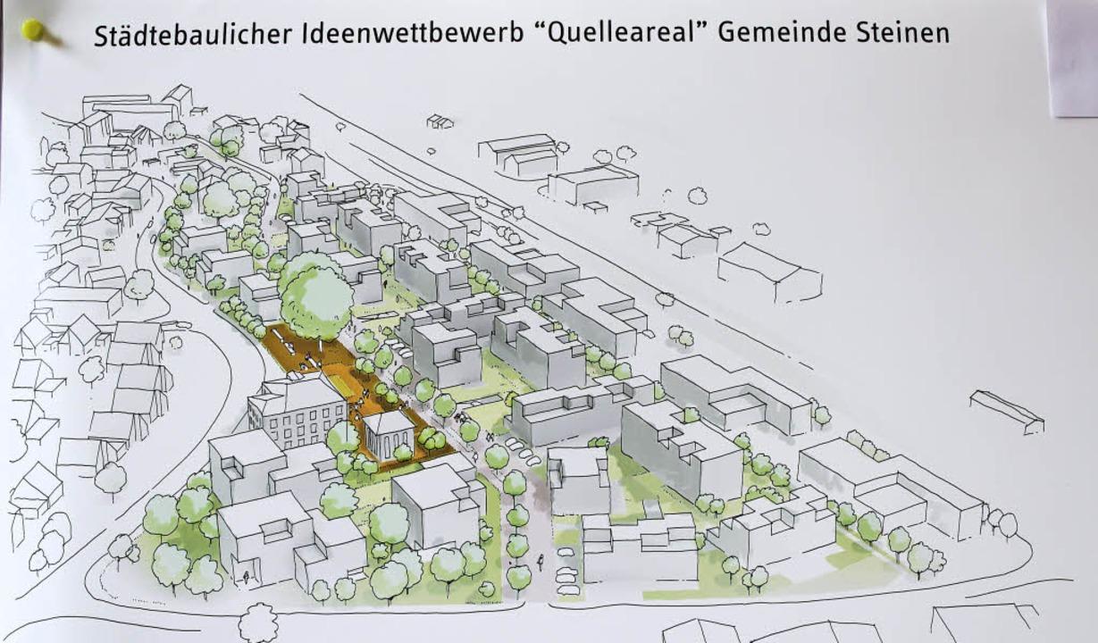 Die Pläne für die Neugestaltung des Quelleareals begeisterten die Gemeinderäte.     Foto: Anja Bertsch