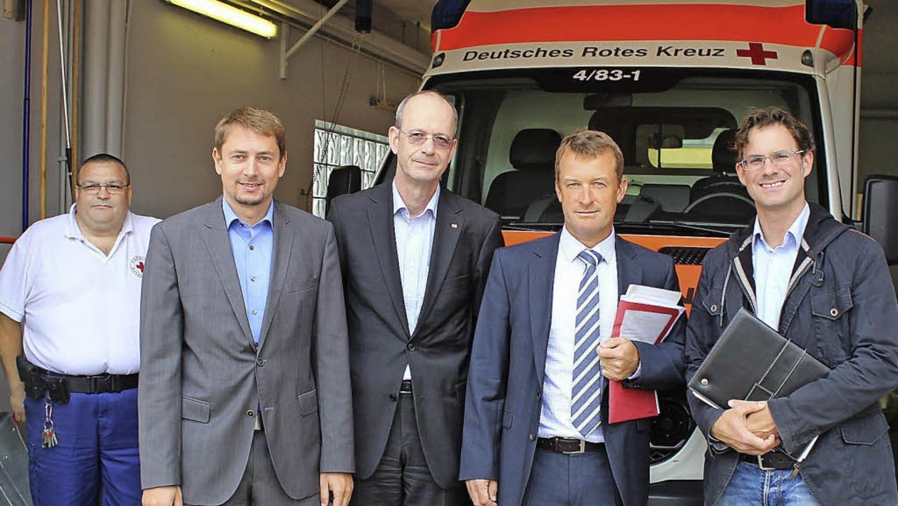 DU-Besuch in der Rettungswache Schönau...dnung des hausärztlichen Notdienstes.     Foto: Hermann Jacob