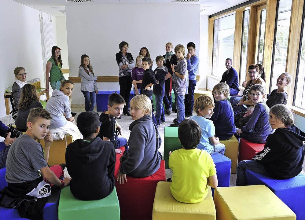 Nachmittags betreut: Schülerinnen und ...heoder-Heuss-Gymnasiums in St. Georgen    Foto: Thomas Kunz