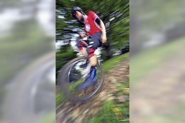 Downhill mit dem Einrad
