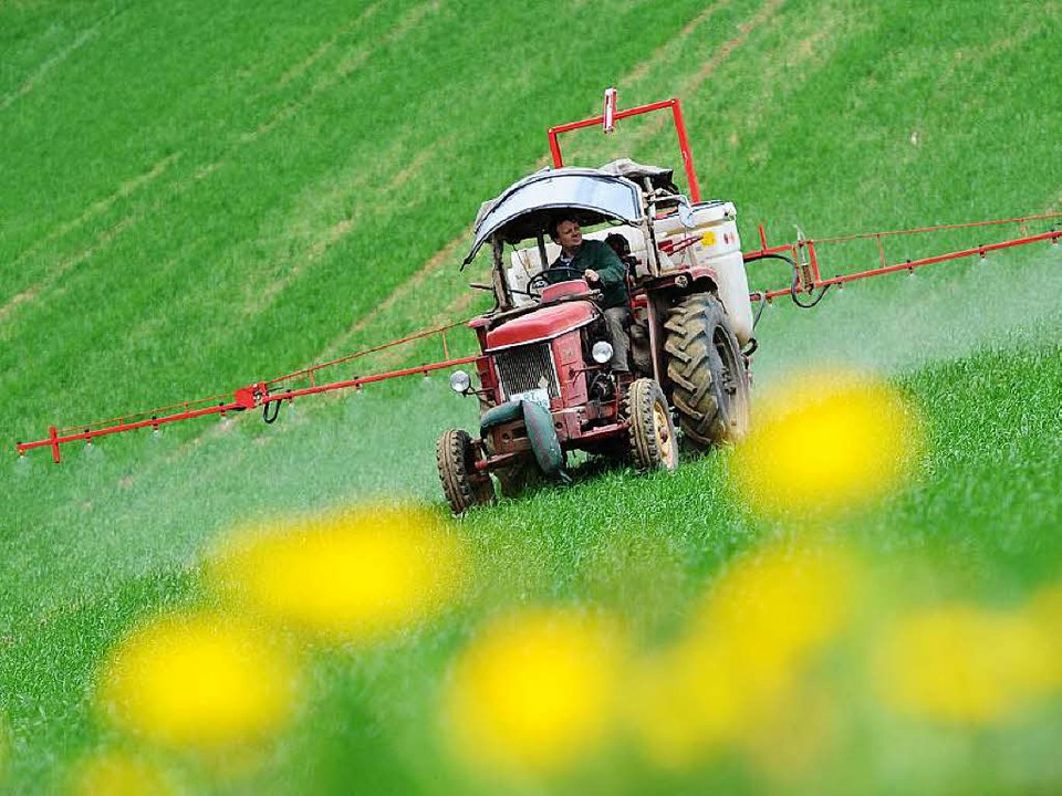 Chemische Pflanzenschutzmittel sind umstritten.     Foto: Fotos: dpa/AFP