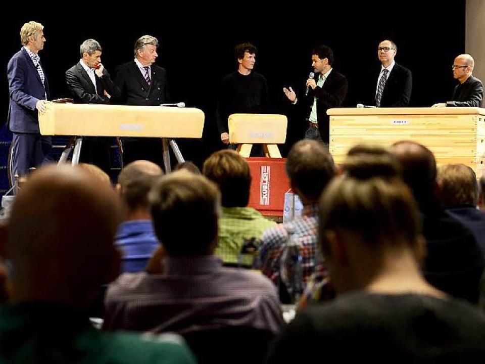 Am Gerät: Tom Bartels, Markus Merk, Mi...illrett und Boris Schmidt (von links)   | Foto: Ingo Schneider