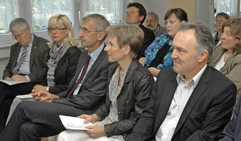 Festredner: OB Dietz, MdB Schuster, Landrätin Dammann, MdL Frey  | Foto: Regine Ounas-Kräusel