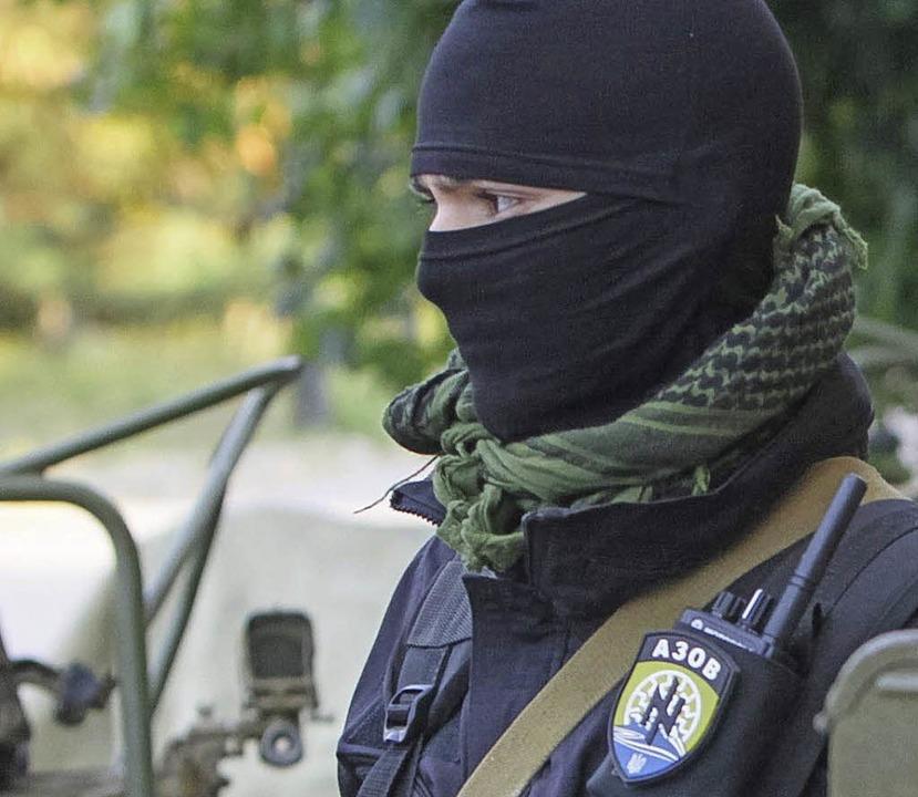 Asow-Kämpfer in Mariupol   | Foto: AFP