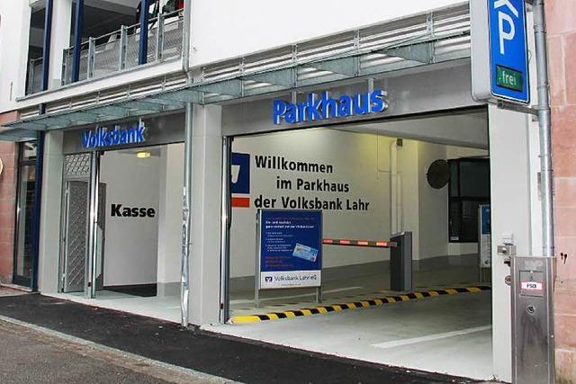 Das Parkhaus der Lahrer Volksbank steht wieder zur Verfügung