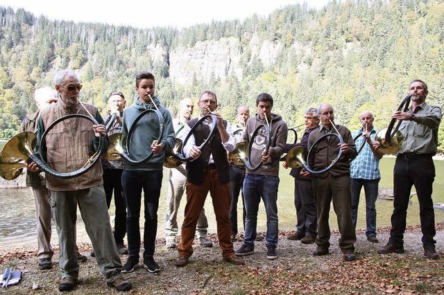 Jagdhornklänge am Feldsee