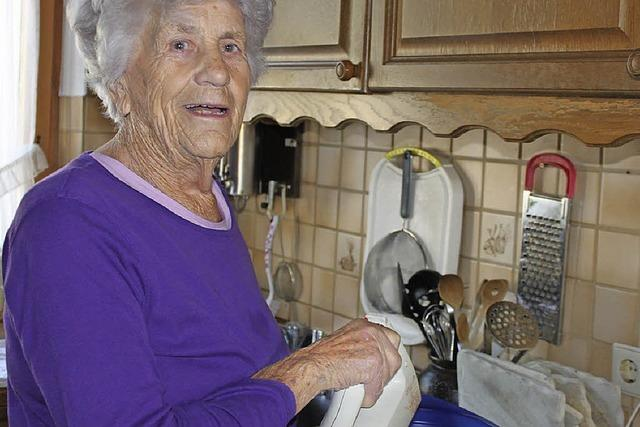 Mit 93 Jahren noch voller Energie
