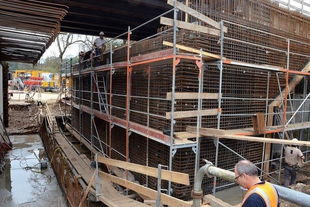 Ab Mitte November ruht die Baustelle für die neue Bahnbrücke