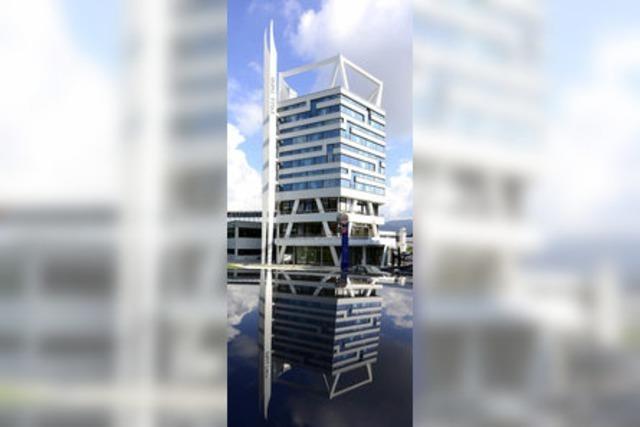 Ein Turm mit Doppelspitze