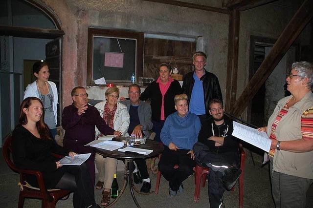 Gesangverein Eintracht singt und spielt in der Halle