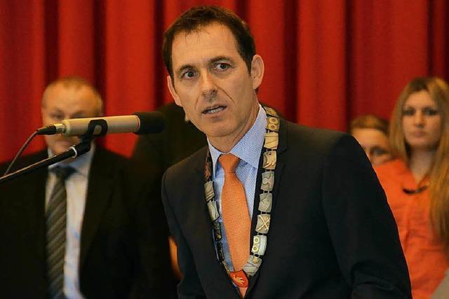 Jörg Lutz als Lörracher Oberbürgermeister vereidigt