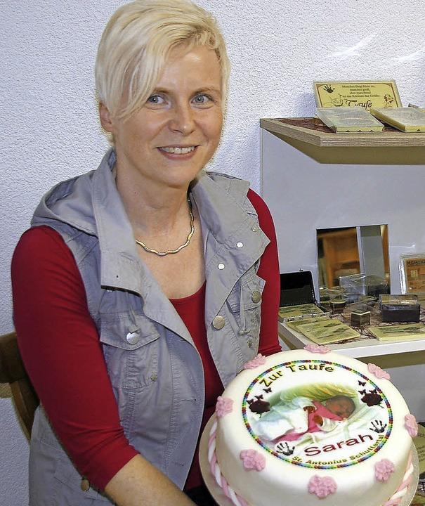Manuela Müllerleile mit ihren süßen Ideen  | Foto: fotos: heidi fössel