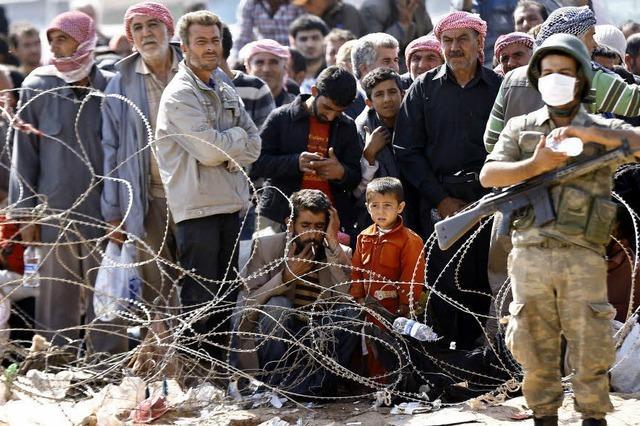 Hunderttausende Syrer fliehen vor dem Terror