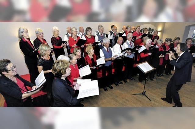 Für den Munzinger Chor gab's einen dreifachen Grund zum Jubilieren