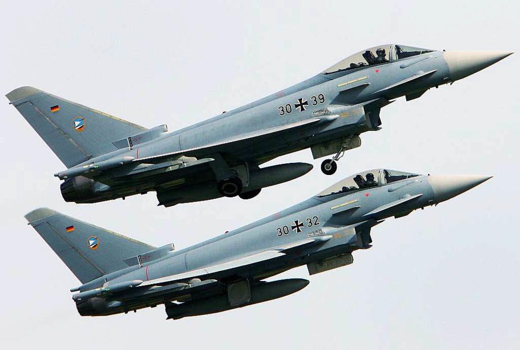 Auch der Eurofighter wurde durchleucht...ugen gab es technische Schwachstellen.    Foto: dpa