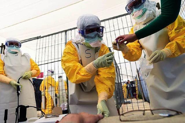 Wie Freiwillige für den Ebola-Einsatz ausgebildet werden