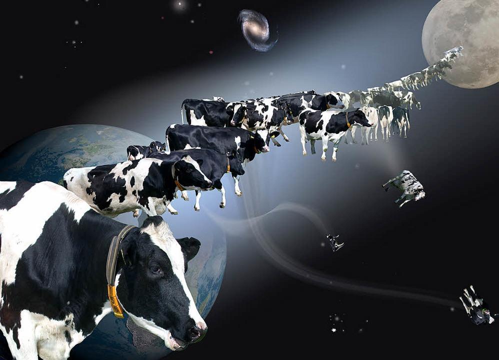 Kühe auf dem Weg zum Mond? Dieses und ...(Anmeldung zur Besichtigung erbeten).   | Foto: Veranstalter