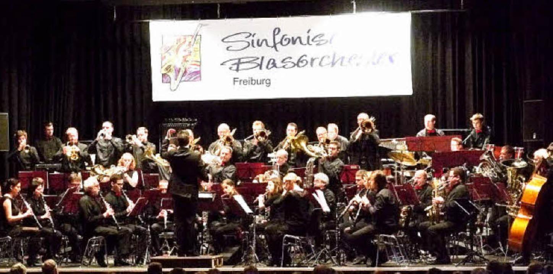 Das Sinfonische Blasorchester Freiburg...berto Pina und Siegfried Rappenecker.   | Foto: PRIVAT
