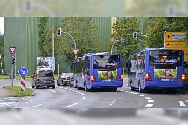 Busflotte soll am Verkehrsknoten Vorrang erhalten