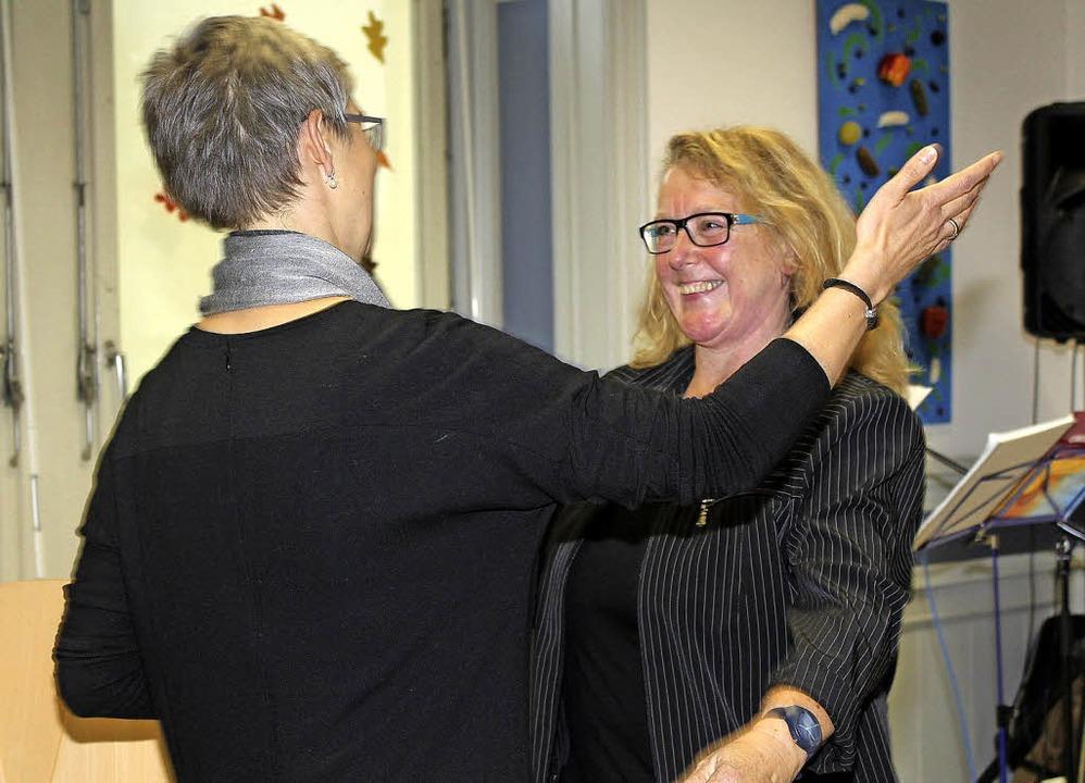 Herzlich willkommen geheißen wurde Eva...chulamt in Lörrach zur neuen Aufgabe.     Foto: Anja Bertsch