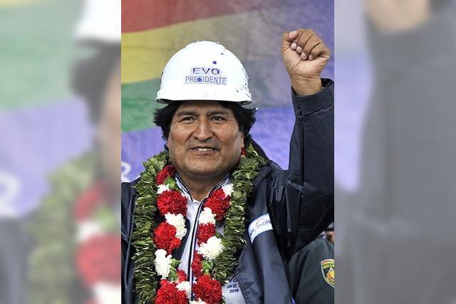 Die Armen verehren Evo Morales
