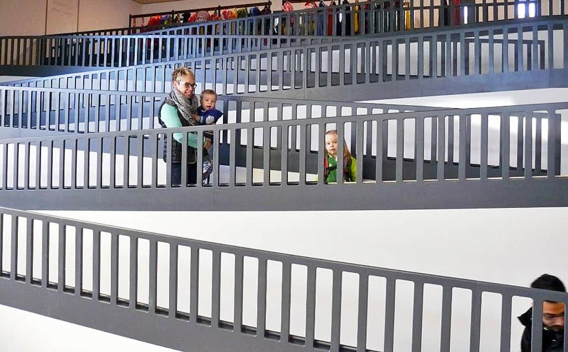 Kinder erobern die neue Kita-Burg - Steinen - Badische Zeitung