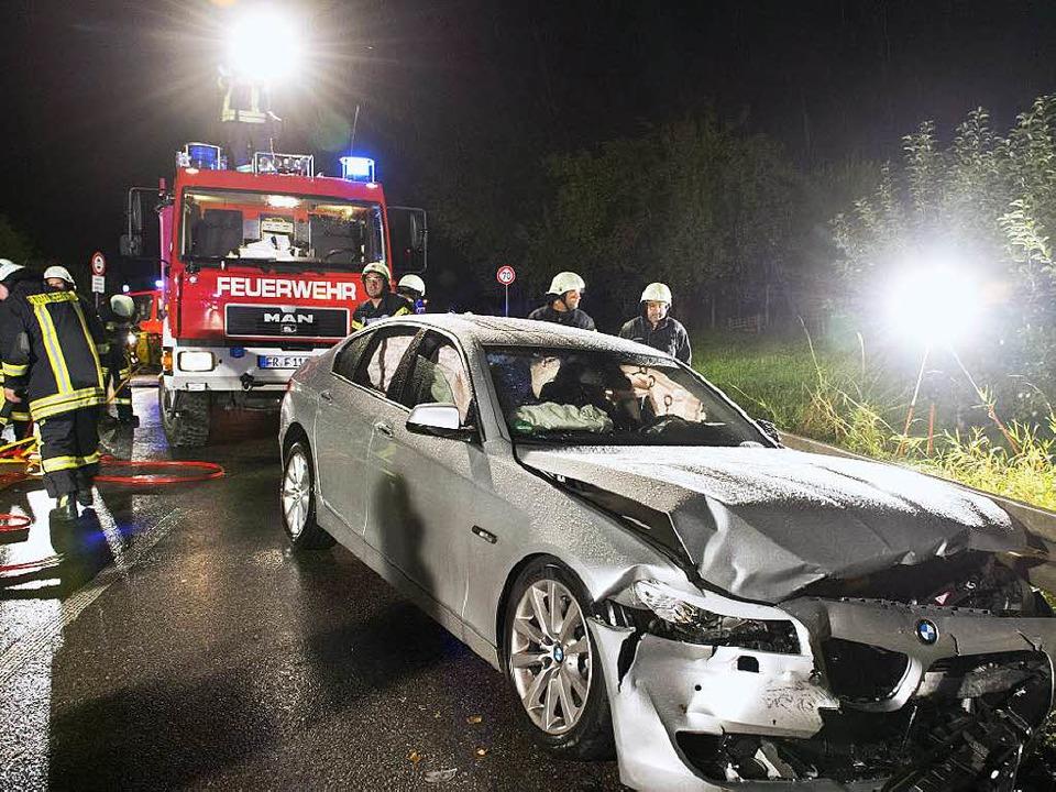 Der BMW des Unfallverursachers.  | Foto: Patrick Seeger