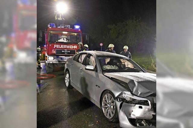 Unfall auf der L 125 mit acht Verletzten