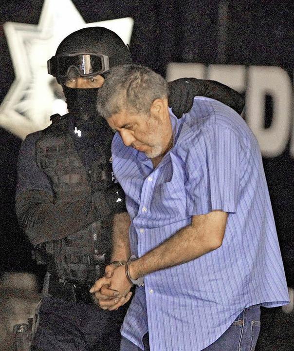 Drogenboss Vicente Carrillo Fuentes bei seiner Verhaftung  | Foto: DPA
