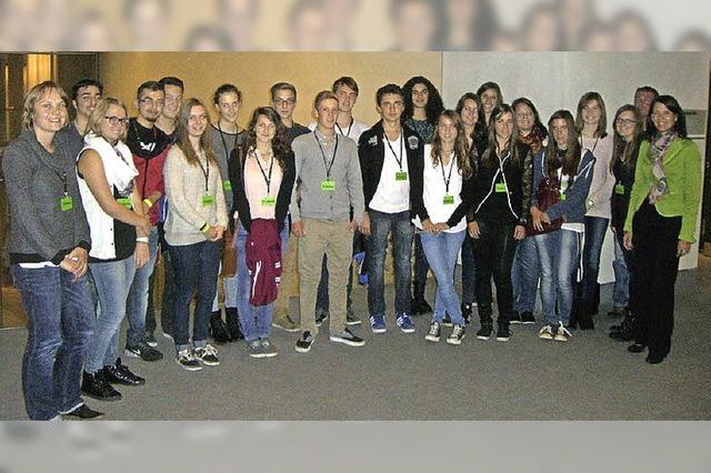 Realschüler besuchen Rita Schwarzelühr-Sutter im Bundestag