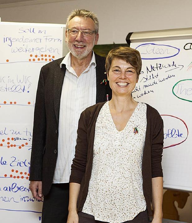 Verabschiedet: Die beiden Koordinatoren Klaus Laxander und Martina Bechtle.   | Foto: Zahn